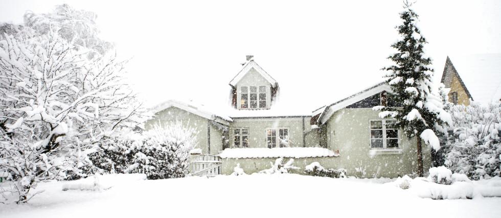 Snø og kulde har ikke lagt noen demper på boligprisene. Foto: Colourbox.com