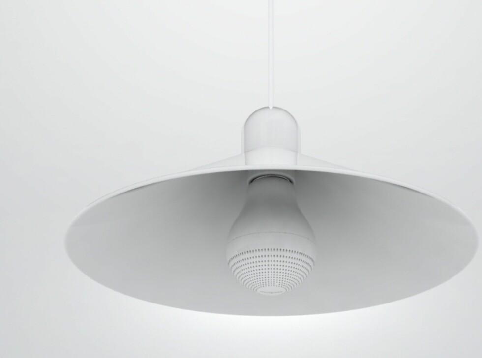 Lampeskjermen kan bidra til å spre, samle eller styre lyden dit du vil.  Foto: Mintpass