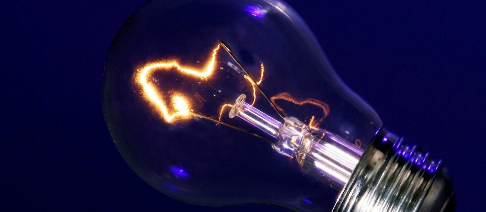 Hva heter det egentlig, det som får det til å gløde i glødelampen? Foto: Colourbox.com
