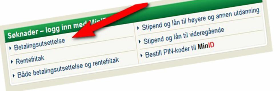 BETALINGSUTSETTELSE  er en populær lenke akkurat nå.