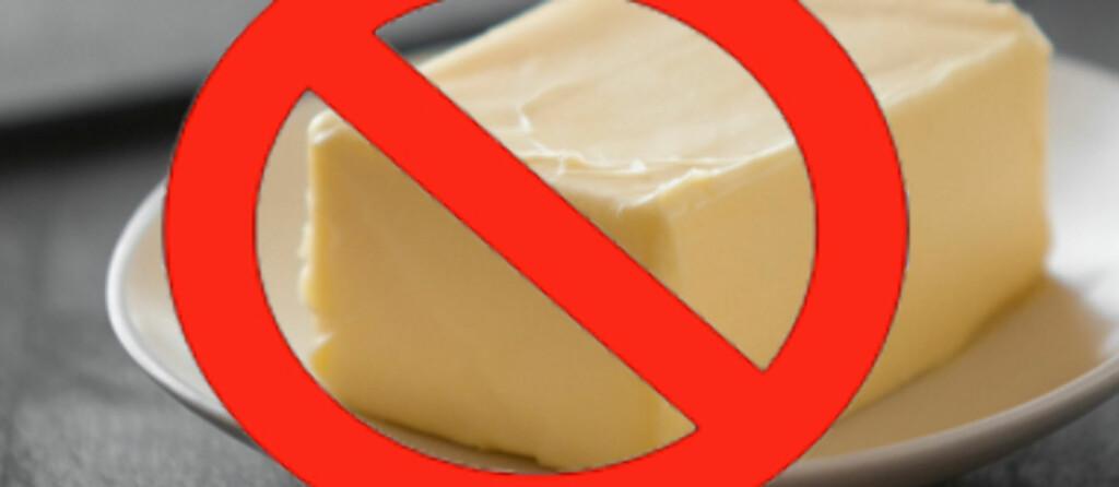 Det anbefales at kostens totale fettinnhold bør bidra med 25-35 energiprosent. Innholdet av mettet fett bør begrenses til under 10 energiprosent. Fotomontasje. Foto: Colourbox.com