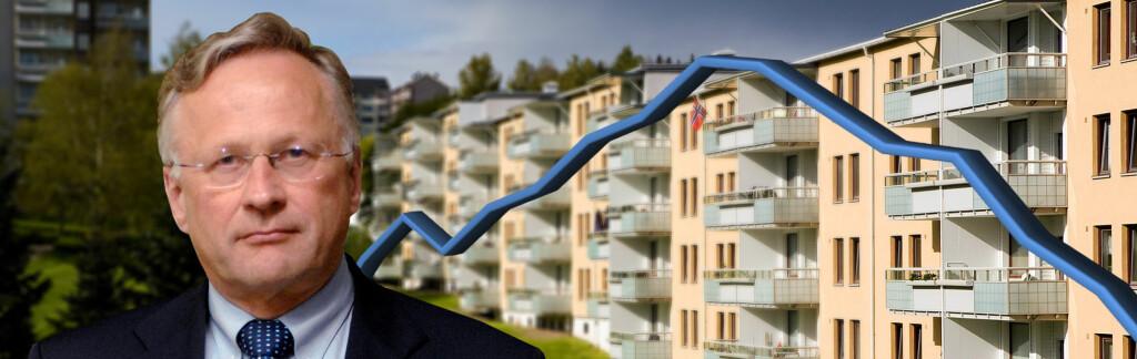 Gjedrem frykter lånefesten kan føre til boligprisfall.  Foto: Norges Bank/Per Ervland