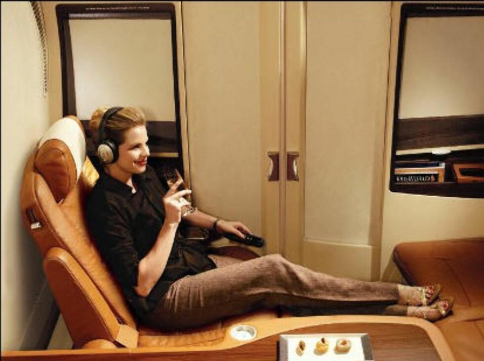 ROMSLIG: Her ser du litt, men ikke alt, av Singapore Airlines Suite.
