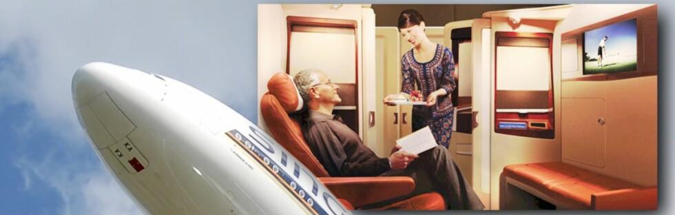 REN LUKSUS: Både Emirates og Singapore Airlines tilbyr luksusopplevelser på deres Airbus A380 som du knapt har sett før.