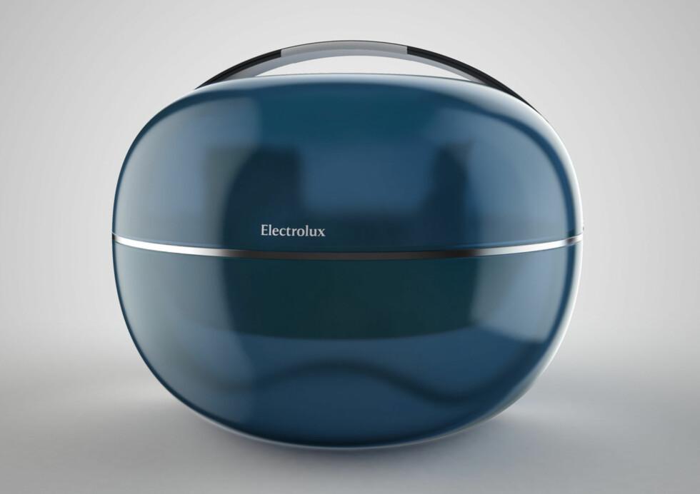 """Cocoon, av Rickard Hederstierna, Sverige. Cocoon er nesten som en mikrobølgeovn, men i stedet for å få micropopcornet til å poppe, kan du """"gro"""" mat og la dingsen stå for hele tilberedningen. Designeren forslår at genmanipulerte produkter vil kunne fremstille ferdige matretter gjennom tilførsel av radiobølger.  Foto: Electrolux"""