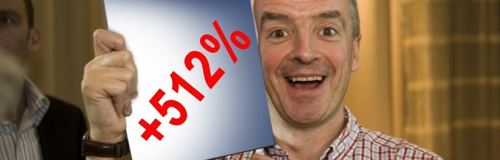 Ryanairsjef Michael O'Leary elsker ekstrakostnader. Foto: Per Erveland