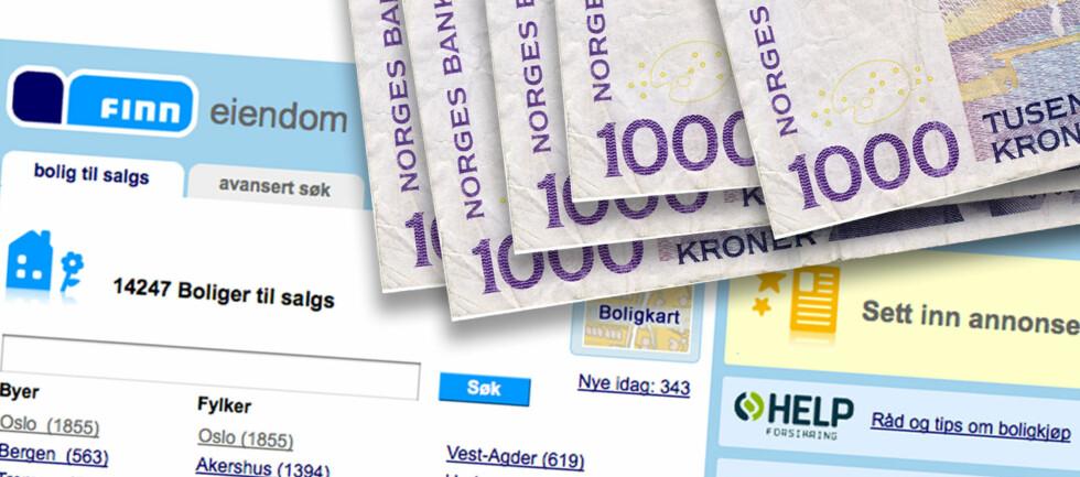 Den ekstreme prisforskjellen er til forbrukernes beste, hevder administrerende direktør i Finn Eiendom, Lars Vangen Jordet. Foto: Finn.no/Colourbox.com