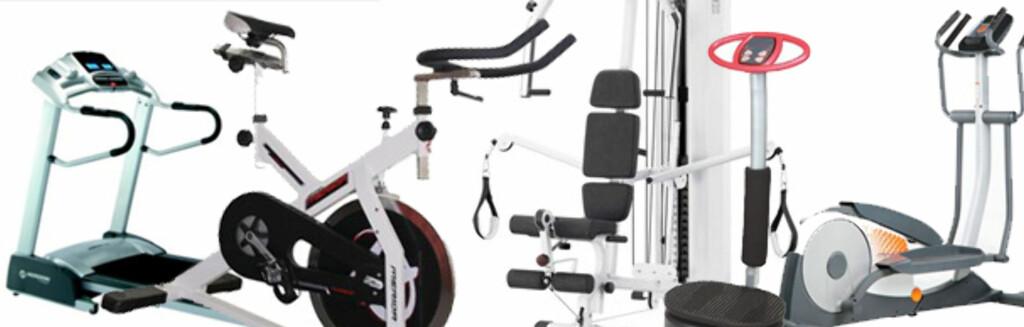 HJEMMETRENING: Et av disse apparatene er absolutt ikke verdt pengene, ifølge treningseksperten. Foto: Eksempelbilder (xxl.no, gsport.no, intersport.no)
