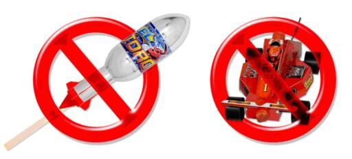 Pinneraketter, og fyrverkeri som ser ut som leketøy er ikke lenger lov.  Foto: Norsk Pyroteknisk Bransjeråd