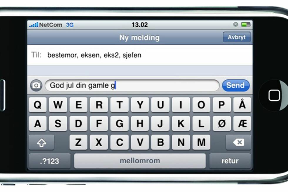 Jule- og nyttårshilsen på SMS