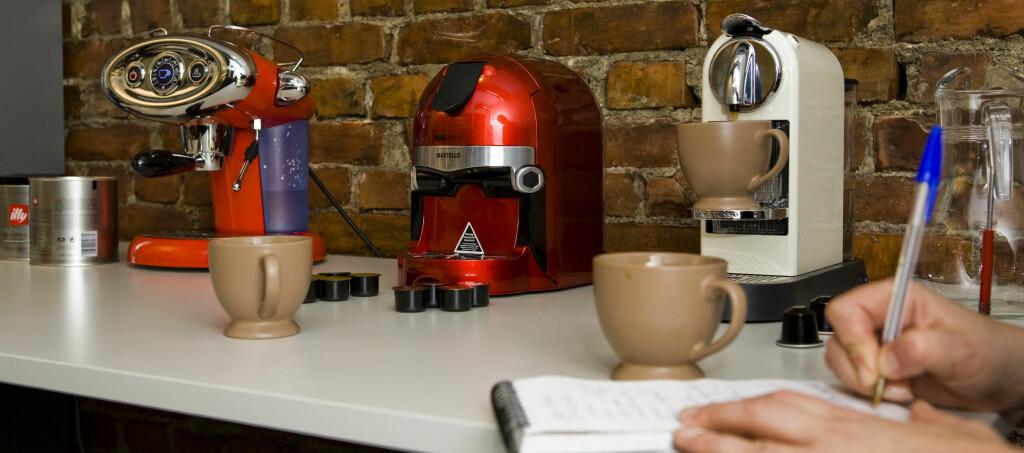 Vi har testet espressomaskiner som bruker kapsler. Hvilken bør du velge? Foto: Per Ervland