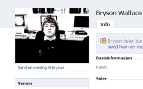 Bryson Wallace er mannen som står bak siden der han hevder han vil skifte navn til Megatron dersom han får 100.000 tilhengere. Foto: Facebook