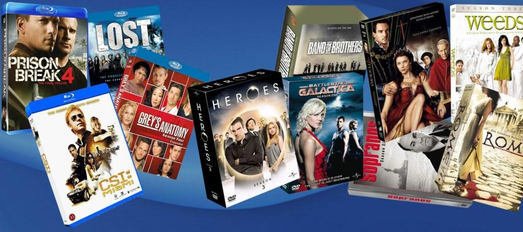 Vår uhøytidelige prisundersøkelse viser at Blu-ray-bokser fortsatt i snitt er 91 prosent dyrere enn DVD-bokser. Foto: Per Ervland