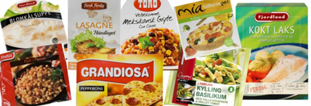 DINSIDE TESTER: Hvilke av disse middagene er sunnest tror du? Eksperten har gitt to terningkast 5. Foto: Per Ervland