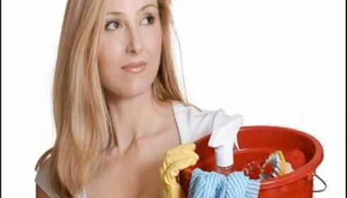 Tips: Har du rengjøringshjelpemidlene lett tilgjengelig, da bruker du dem også oftere. Illustrasjonsfoto: iStockphoto