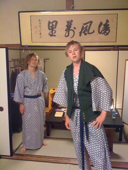 Yakuta: Etter badet er det på tide å trekke i yukata. Foto: Jon Erland Madsen