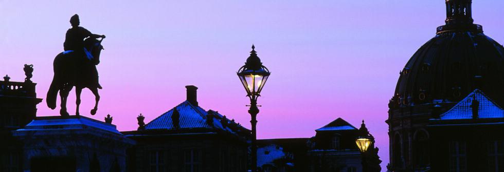 Vinterhimmel over Amalienborg slott. Foto: Ireneusz Cyranek/Visit Copenhagen