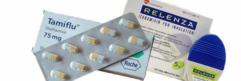 ANTIVIRALE MIDLER: Både Tamiflu og Relenza har effekt mot svineinfluensaviruset som nå herjer. Foto: Montasje: Wikipedia.org og swineflurelenza.com