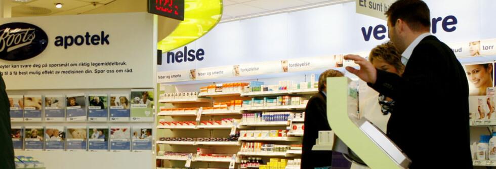 SYNES DET ER PINLIG: Hele 15 prosent oppgir at de har opplevd det som så pinlig å gå på apoteket at de har utsatt det eller ikke gjort det i det hele tatt. Men, de fleste Foto: Foto: Elisabeth Sperre Alnes