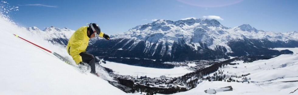 St. Moritz er et av Alpenes mest snøsikre skisteder. Foto: St. Moritz