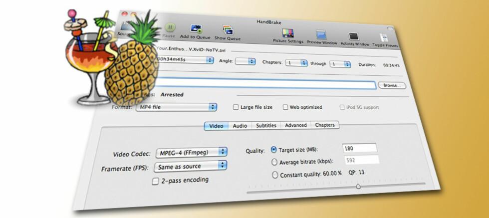 AV MED HÅNDBREKKET: Nye Handbrake har blant annet 64-bits-operasjoner og bedre støtte for undertekster.