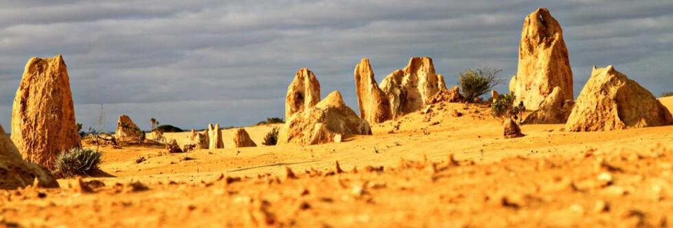 Pinnacle Desert i Asutralia har spennende fotomotiver overalt. Foto: Elin Sire