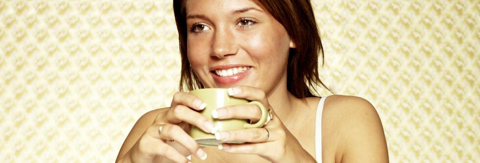 En espresso etter middag kan virke inn på nattesøvnen din. Foto: Colourbox