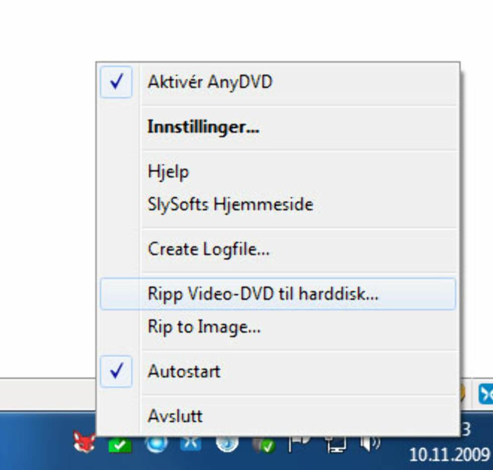 Dekryptering: AnyDVD HD