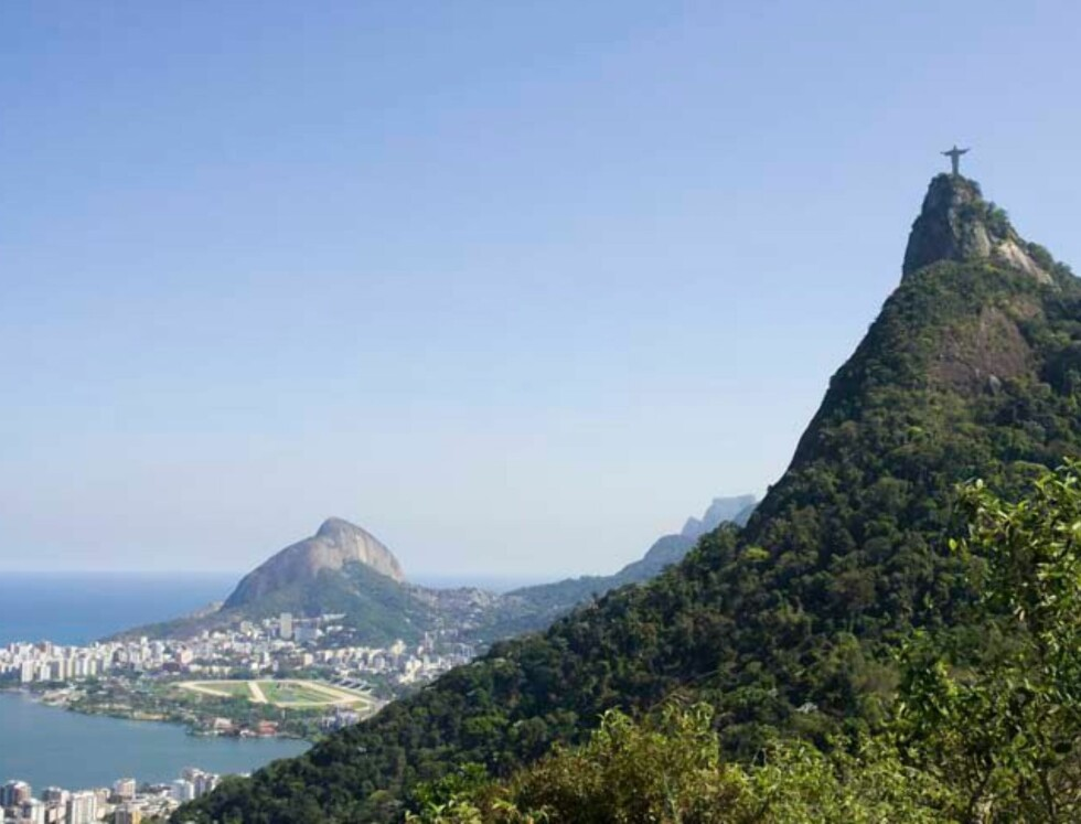 Rio de Janeiro. her er Kristusstatuen på plass. Foto: Hotels.com