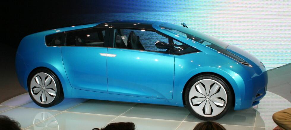 Bildet viser konseptbilen Toyota Hybrid X fra 2007 Foto: Knut Moberg