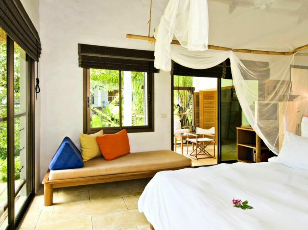 Stilige rom på dette boutique-resortet. Foto: Paradise Koh Yao/Star Tour