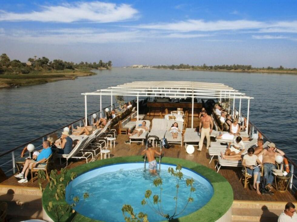 Et cruise på Nilen er en perfekt måte å få med deg det flotteste i Egypt, mener Larsen-Vonsett. Foto: Star Tour