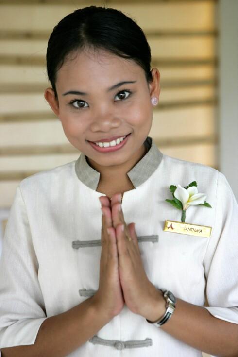 """Den thailandske hilsenen """"wai"""" bør du lære deg. Da blir thailendere glade. Foto: Colourbox"""