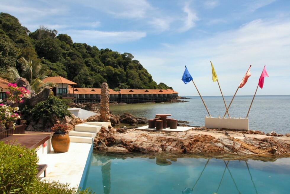Gemia Island Resort har 45 rom, og alle har egen balkong med havutsikt. Foto: Stine Okkelmo