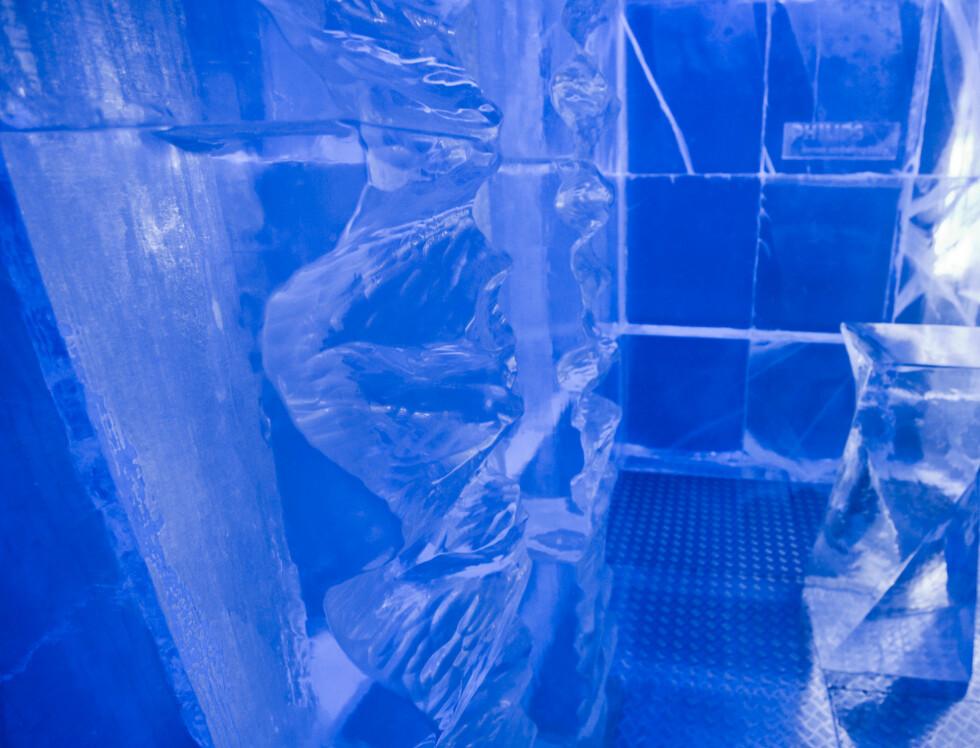 """""""Purity with a twist"""" er konseptet, derav de vridde formene på isen. Foto: Per Ervland"""