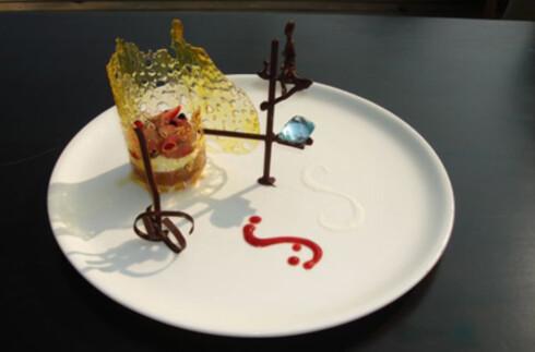 """""""The Fortress Stilt Fisherman Indulgence"""" - legg merke til sjokoladefiguren av en fisker på en påle. Foto: Hotellet"""
