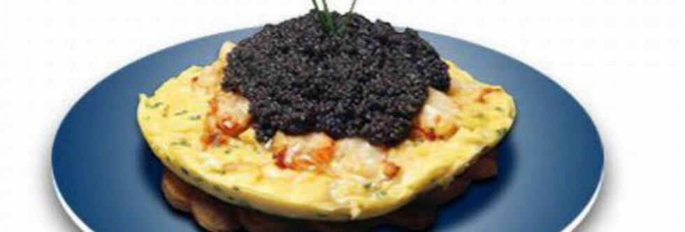Restaurant-mat er ikke gratis - likevel: 5800 kroner for en Zillion Dollar Lobster Frittata til frokost, blir kanskje i drøyeste laget? Foto: Restauranten