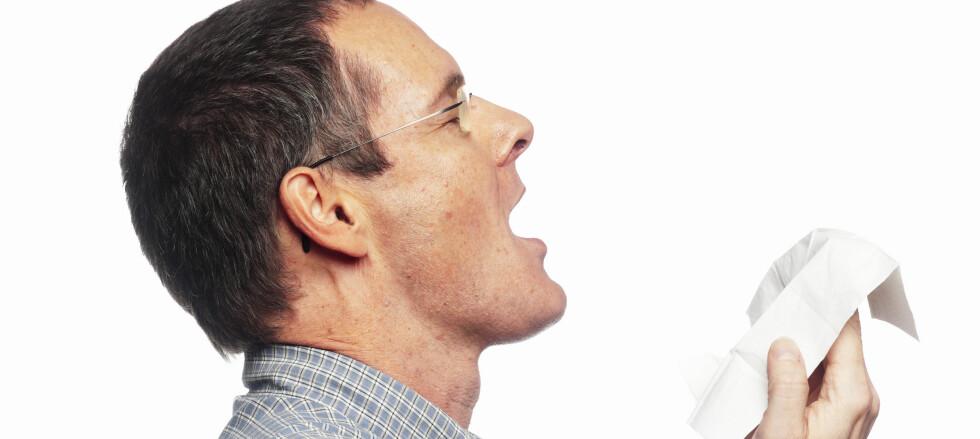 Bruk albukroken når du må hoste eller nyse og ikke har papirlommetørkle tilgjengelig.
