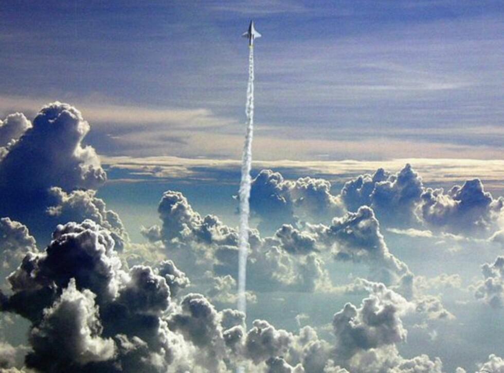 For å komme opp til romhotellet, må de ombord i et romskip. Foto: Galactic Suite Ltd.