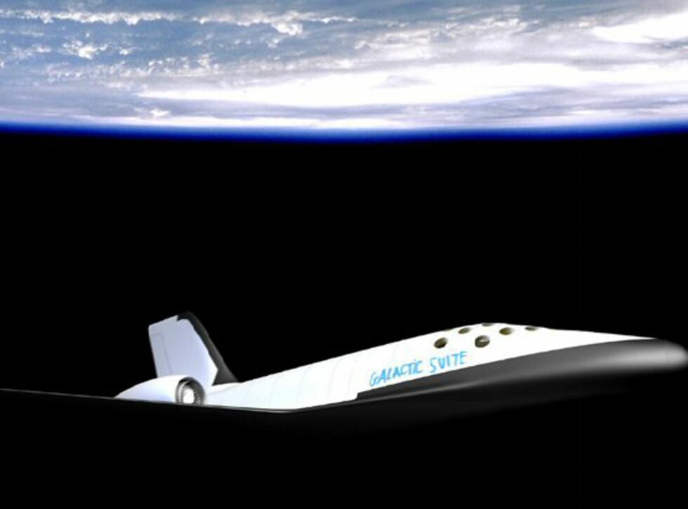 To astronautpiloter manøvrerer romskipet opp til romhotellet som går i bane 450 km over jorden. Foto: Galactic Suite Ltd.