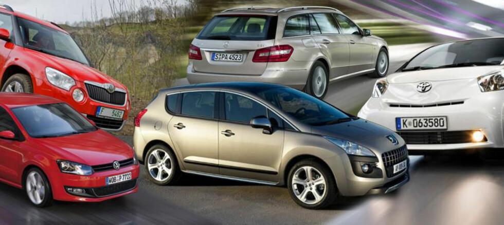 Hvilken fortjener Car of the Year 2010-betegnelsen? Vi overlater til deg å bestemme. Foto: Per Ervland