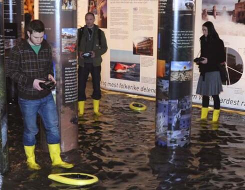 Morsomme interaktive installasjoner er en av grunnene til at utstillingen er blitt så populær Foto: Norsk Teknisk Museum