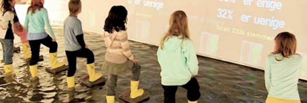 På med gummistøvlene, og svar på klimaspørsmål. Foto: Norsk Teknisk Museum