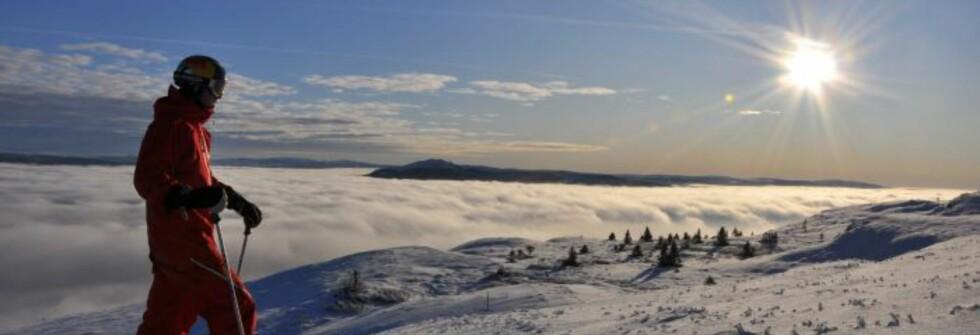 Knut Sandberg tok seg en tur opp til toppen av Kvitfjell morgenen fredag 30. oktober. Slik så det ut da. Foto: Kvitfjell