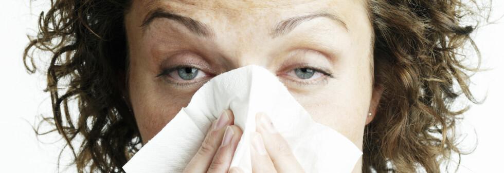 SMITTET MED HVA? Forkjølelse gir andre symptomer enn influensa. Vanskeligere er det å skille vanlig influensa fra H1N1. Foto: Colourbox.com