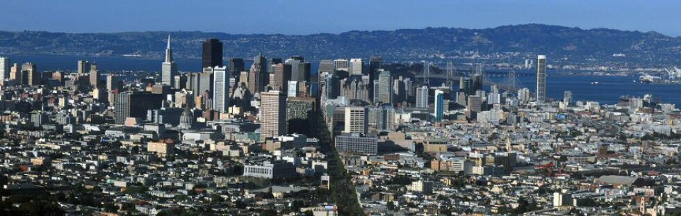 San Francisco sett fra utkikkspunktet Twin Peaks. Foto: Wikipedia Commons