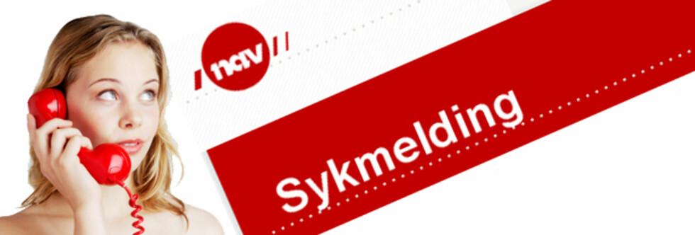 JEG KOMMER IKKE I DAG: Har du noensinne tatt en ekstra sykedag når du egentlig er frisk? Foto: Montasje Colourbox.com og nav.no