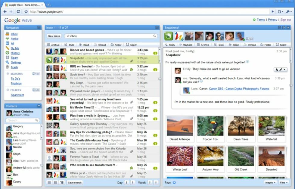 Google håper at Wave skal revolusjonere måten vi samhandler og kommuniserer med kolleger og venner på.