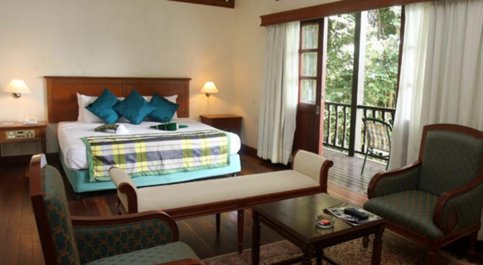 Fra et av chaletene med balkong. Foto: Lake Kenyir Resort & Spa