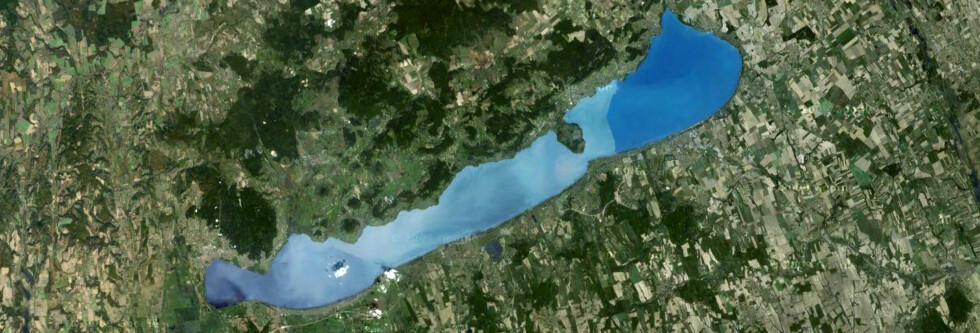 Balatonsjøen er det nest mest populære turistmålet i Ungarn. Budapest er selvfølgelig nummer én. Foto: Google Maps